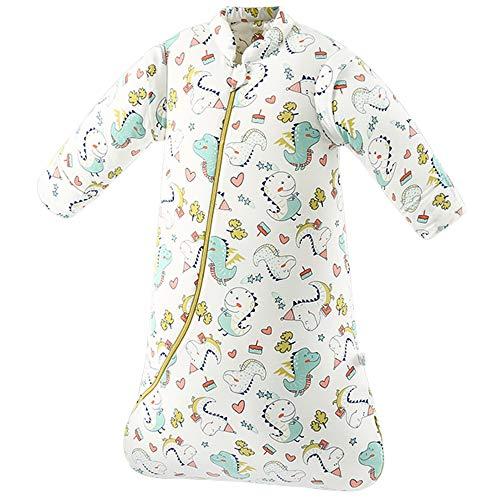 SaponinTree Baby Schlafsack, Baumwolle Leichter Schlafsack Einstellbar Schlafsack mit abnehmbaren Ärmeln für Neugeborene Junge und Mädchen 8-24 Monaten, 2.5TOG