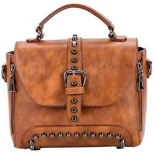 ZHANG Purses for Women Faux Leather Handbag Designer Purse Bucket Bag Tote Shoulder Crossbody