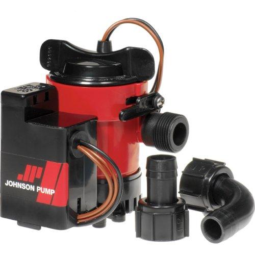 Johnson Pump 05903-00 Cartridge Combo Automatic Submersible Bilge Pump - 12V, 1000 GPH, red