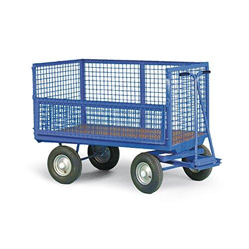 Protaurus Handpritschenwagen mit Drahtkastenaufbau