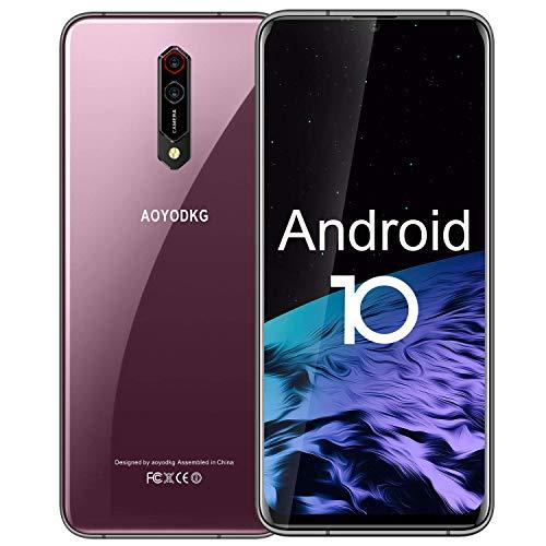 "AOYODKG N9S Pro 2021 Smartphone 5G WIFI 6.52 ""HD + Schermo, 4500mAh Batteria 6GB RAM + 64 ROM /256GB 16MP + 8MP Fotocamera Dual SIM Android 10 Bluetooth 5.0 Cellulari Offerte Fucsia."