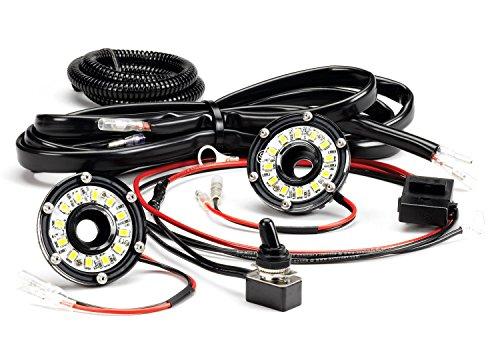 KC HiLiTES 355 Cyclone LED Universal 2-Light Under Hood Wiring Kit
