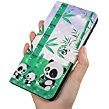 Latest 3D Shinning Painted Panda Pattern Wallet Leather