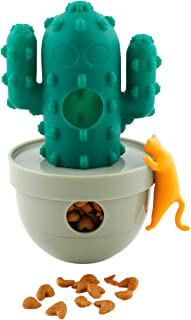 Yoyipet Ca-Tumbler Plant Version Pet Feeder Food Dispenser and Toy for Cat Funny Chasing Hunting with Different Shape (Cat Food is not Included)