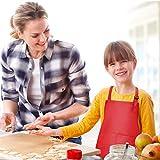 Fodlon 2 Stück Rot Kinder Schürzen mit Taschen, Verstellbare Kleinkind Kochschürze für Jungen Mädchen, Küchenschürze Malschürze, Kinder Künstler Schürzen für Basteln Malen Backen Kochen (7-13 Jahre) - 3