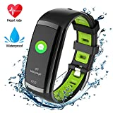 armo Fitness Tracker HR, Fitness Watch with Heart Rate Monitor, Activity Tracker, Sleep Monitor, Step Counter Calories Watch, IPX7 Waterproof Smart Wristband Pedometer (Green0)