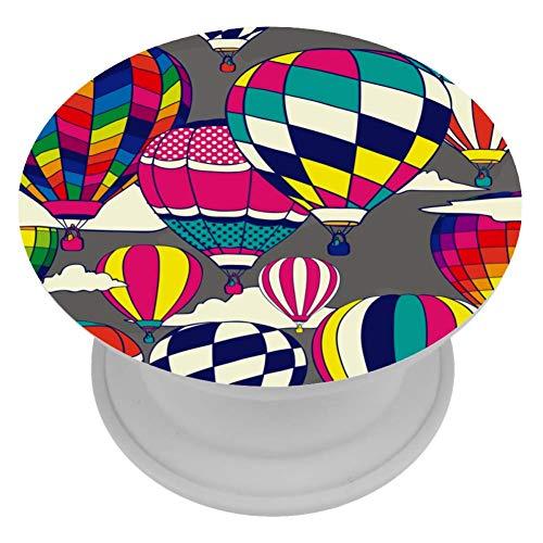 TIZORAX Popper Grip Mount Gekleurde Hot Air Ballon Uitbreiding Telefoon Hand Houder Knoppen Stand ABS Grip Vinger Kickstand