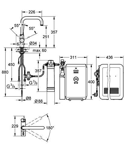 Grohe Blue Starter Kit U-Auslauf, 31324001 - 2