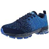 VVQI Zapatos para Correr Hombres Mujeres Zapatillas de Deporte Zapatos Deportivos Moda Ligero Zapatos Transpirables Casuales,Azul,43 EU