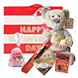 A valentine's Day gift for her| 12 inches Teddy Bear, |Peppermint candy, A heart Ferrero Rocher, A...