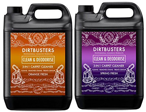 Dirtbusters professionelles 3-in-1-Teppich- und Polsterreinigungskonzentrat Clean & Deodorise, 1x 5l Frü