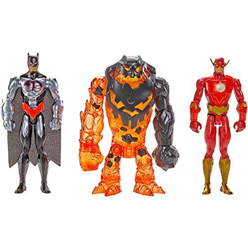 Batman Ilimitado Fundido Mayhem Flash vs. Cara de Barro Figura 3-Pack