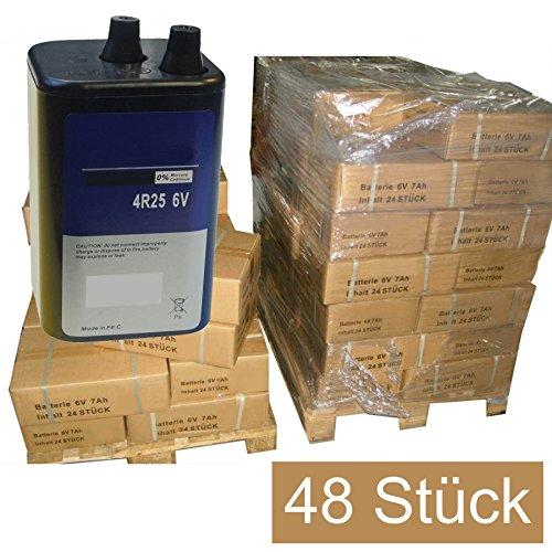48 STÜCK Blockbatterien Trockenbatterien Batterien 6V7Ah Campingbatterie 6V 7Ah, Baustellenbatterie, Handscheinwerfer, Handlampenbatterie, Trockenbatterie, Blockbatterie, Lampenbatterie, Batterie, Blinklampenbatterie, 6Volt 7 Ah Hochleistungsbatterie