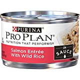 Purina Pro Plan Wet Cat Food, Salmon Entree With Wild Rice in Sauce - (24) 3 oz. Pull-Top Cans