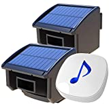 Htzsafe Solar Wireless Driveway Alarm System-1/4 Mile Long Transmission Range-Solar Powered No Need