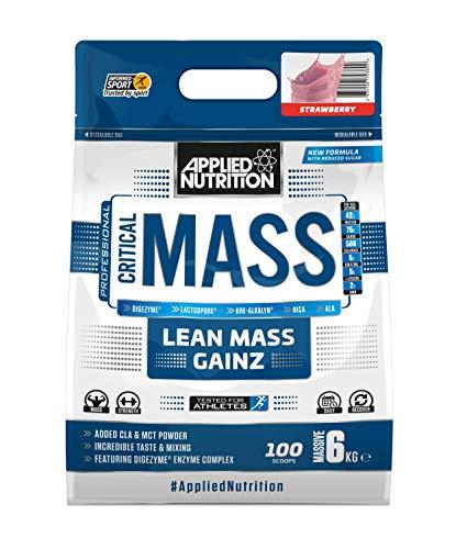 Applied Nutrition Critical Mass Drink Getränk Protein Eiweiß Kohlenhydrate Weight Gainer 6000g (Strawberry - Erdbeer)