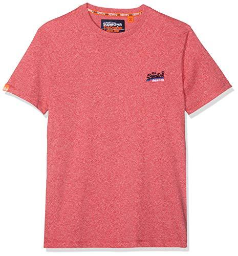 Superdry Orange Label Vintage Embroidery S/s tee Camiseta, Rojo (Red Grit Rlw), Medium para Hombre