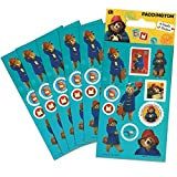 Paper Projects 01.70.15.037 Paddington Bear - Paquete de pegatinas para bolsa de fiesta (6 hojas), 12,5 cm x 7,5 cm