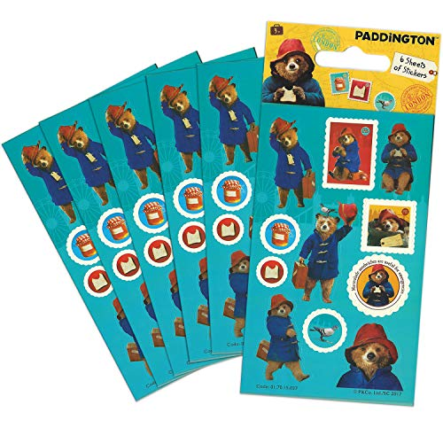 Paper Projects 01.70.15.037 Paddington Bear Movie Party Size Sticker Pack (6 Sheets), 12.5cm x 7.5cm