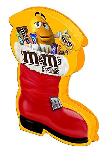M&M'S & Friends Riegel-Mix im Weihnachtsstiefel/Nikolausstiefel mit M&M's, Bounty, Mars, Milky Way, Snickers und Twix für einen süßen Advent/1 x 182g