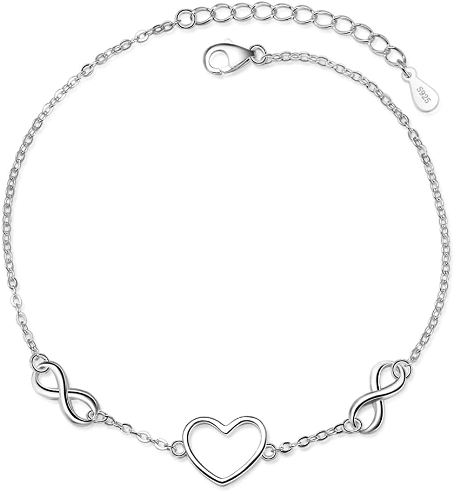 IFeico 925 Sterling Silver Bracelet for Girls Super intense SALE Max 49% OFF Mom Women Endless
