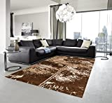 ASTRA Webteppich Teramo, in Verschiedenen Farben und Größen erhältlich Alfombra, Poliéster, Patchwork Braun, 140 x 200 cm