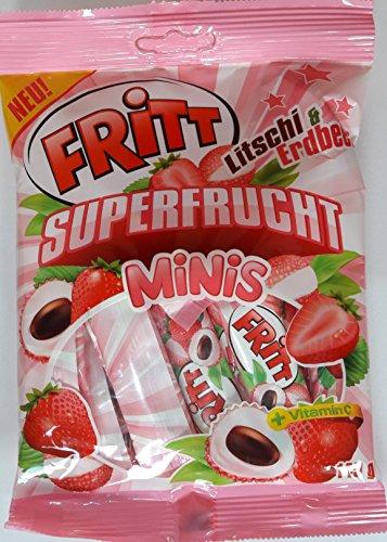Fritt Superfrucht Minis Kaubonbon Litschi & Erdbeer (2 x 140g)