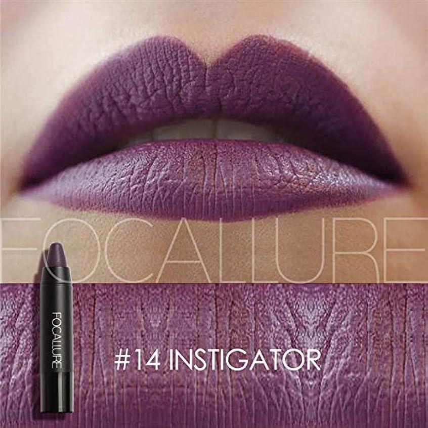 Bocoss - 化粧ヌードメイクアップ唇を着用する12色の口紅マットLipsticker防水長持ち簡単[14]