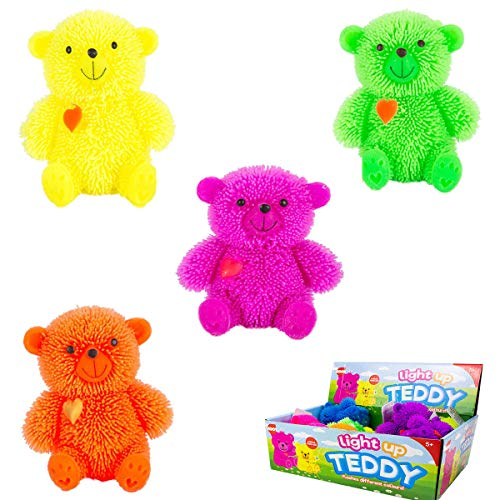 Unbekannt 1xQuetschbarer LED Teddy Bär - Light up Teddy - Blickt in Verschiedene Farben - vertrieb durch ABAV
