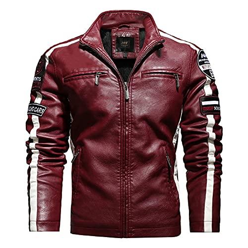 ZDSKSH Chaqueta de cuero para hombre, chaqueta de moto premium suave y transpirable, chaqueta para hombre Cafe Racer
