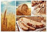 Wallario Poster - Weizen und Mehl Vom Korn zum Brot in