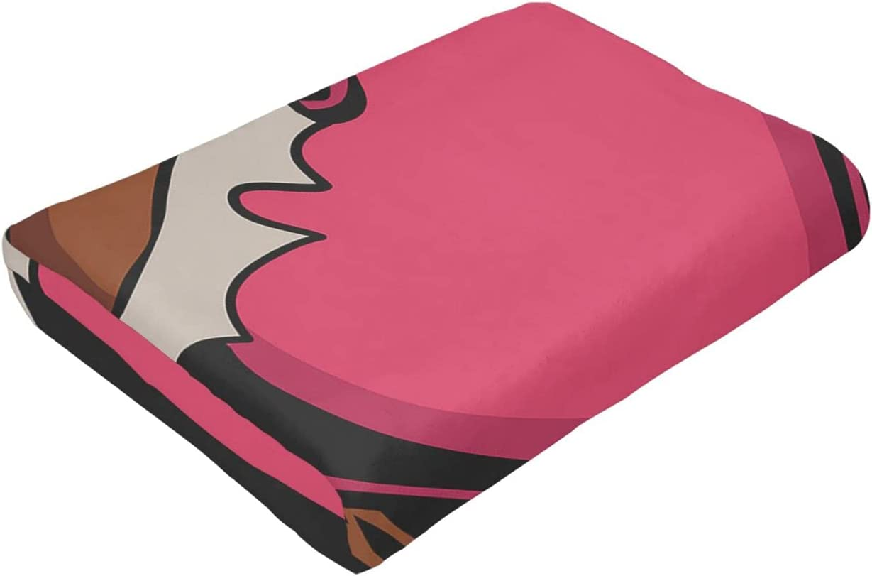 Chocolate Love Ultra-Soft Micro Fleece Suitable Max 40% OFF Blanket Atlanta Mall for Bed