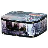 Kleiber 91977Scatola Valigia New York Box Grande Valigia, Portaoggetti, Legno, Nero, 30x 30x 13cm