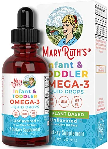 Infant Toddler Omega 3 Liquid Drops by MaryRuth s 200mg DHA 2mg EPA Per Serving Cognitive Function product image