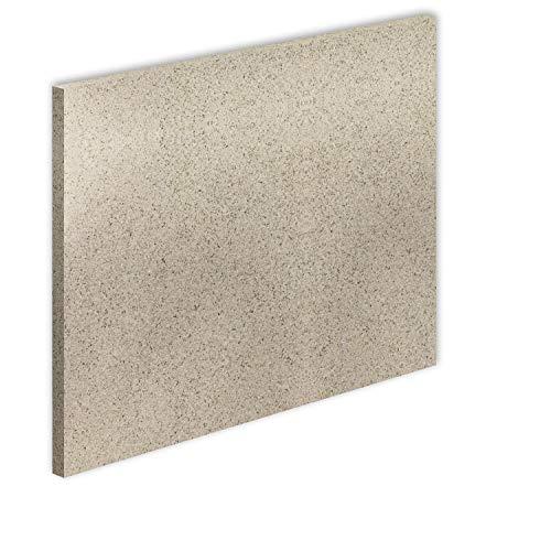 Vermiculite Platte Schamott-Ersatz für Kamin-Ofen Feuerraum Auskleidung SF600 800x600mm 30mm Stärke Temperaturbeständig bis 1100 °C mind. 600kg/m³ Rohdichte (x1)