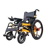 Portable Power Wheelchair Lightweight Foldable Heavy Duty Dual Motor Electric Wheelchair Wide Bariatric Folding Power Motorized Wheelchair,24inchwheels