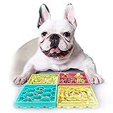 DMSL 4 Piezas Comedero Lento para Perros, Alimentador Lento para Perros Comida Plato Juguete Comedero Perros Bandeja de Comida para lamer