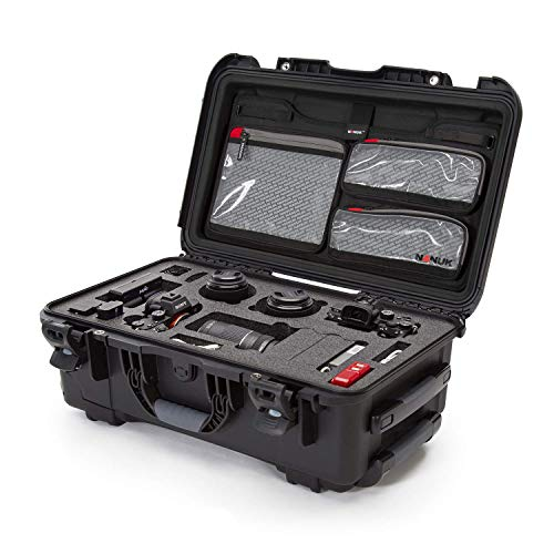 Nanuk 935 Waterproof Carry-on Hard Case with Lid Organizer and Foam Insert for Canon, Nikon - 2 DSLR Body and Lens/Lenses - Black