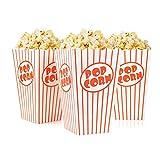 Tebery 48 x Sacchetti di Popcorn - Bianco Rosso A Strisce -...