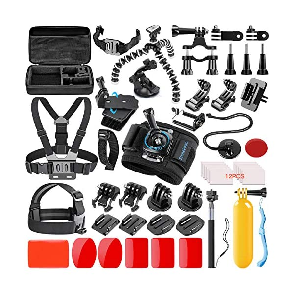 SmilePowo 42-in-1 Action Camera Accessorries Kit Mount for GoPro Hero 8 Max 7 6 5...
