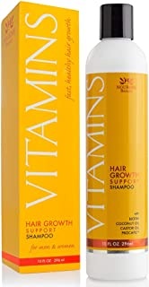 """Vitamins Hair Growth SHAMPOO - 121% Regrowth and 47% Less Thinning - With DHT Blockers and Biotin for Hair Growth """" 2 Month Supply"""