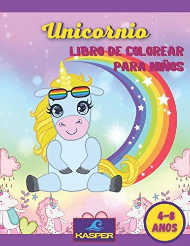 Unicornio Libro de Colorear para Ninos 4-8 anos: Más de 55 dibujos inéditos sobre el mundo mágico de Unicornios.