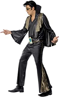 Men's Elvis Black and Gold Costume - Chest 42