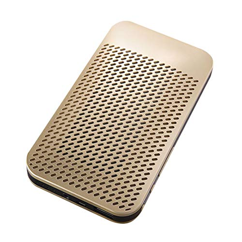 HIOD Bocina Bluetooth Multifunción Portátil Mini Altavoz Inalámbrico Batería 5000mAh Carga del Teléfono,Gold