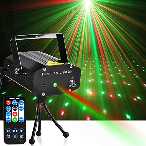 Disco Lights, Party Lights GOOLIGHT Dj Lights LED Projector Metal Case Sound Activated Stage Light with Remote Control for Birthday Parties Bar DJ KTV Karaoke Dancing Christmas Halloween Wedding