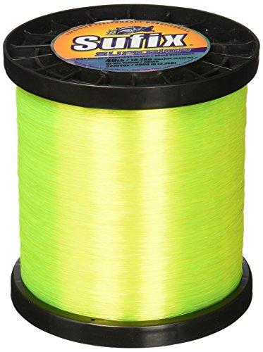 Sufix Superior Spool Size Fishing Line (Yellow, 50-Pound)