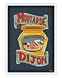 AZSTEEL Poster Moutarde De Dijon | Poster No Frame Board