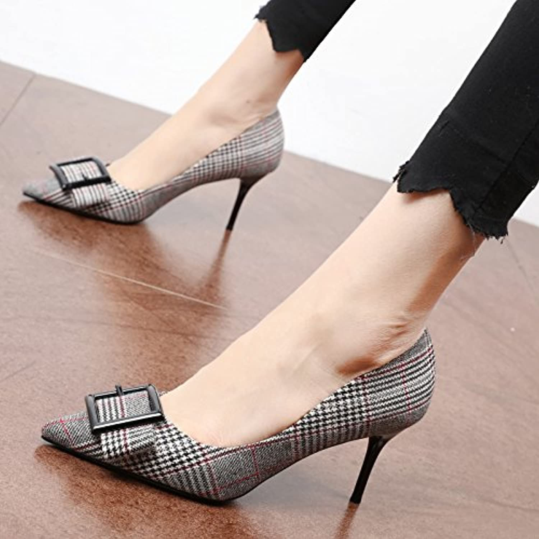 Xue Qiqi alten englischen Stil ein Schuh Frauen Schuhe mode Tipp die feinen und High Heels zu fangen