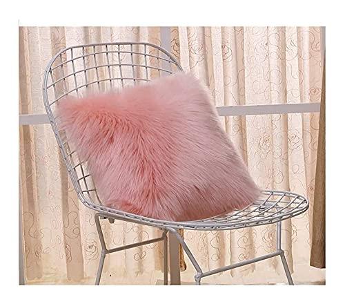 Funda de almohada de lana artificial cubierta del amortiguador suave estupendo de lujo del amortiguador de la cubierta de cuero Decoración Dormitorio 45cmx45cm tamaño decorativo funda de almohada del
