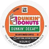 Dunkin' Decaf Medium Roast Coffee, 88 K Cups for Keurig Coffee Makers